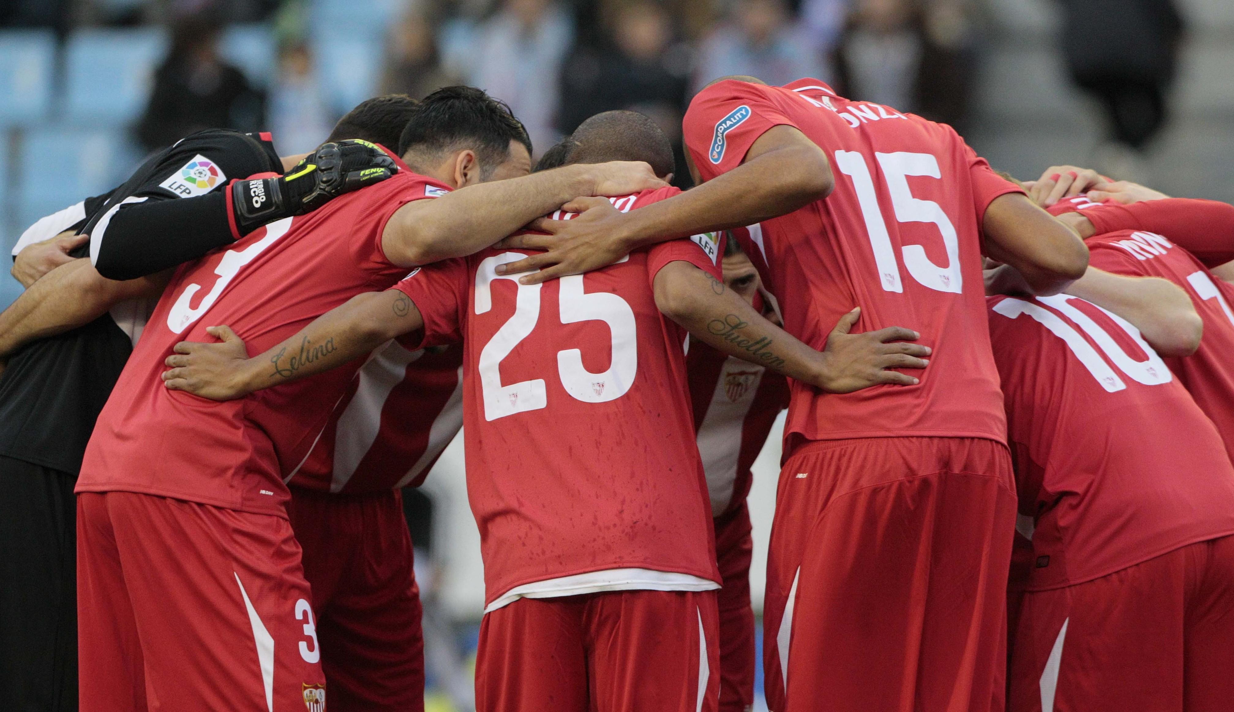 Piña antes del Celta-Sevilla FC