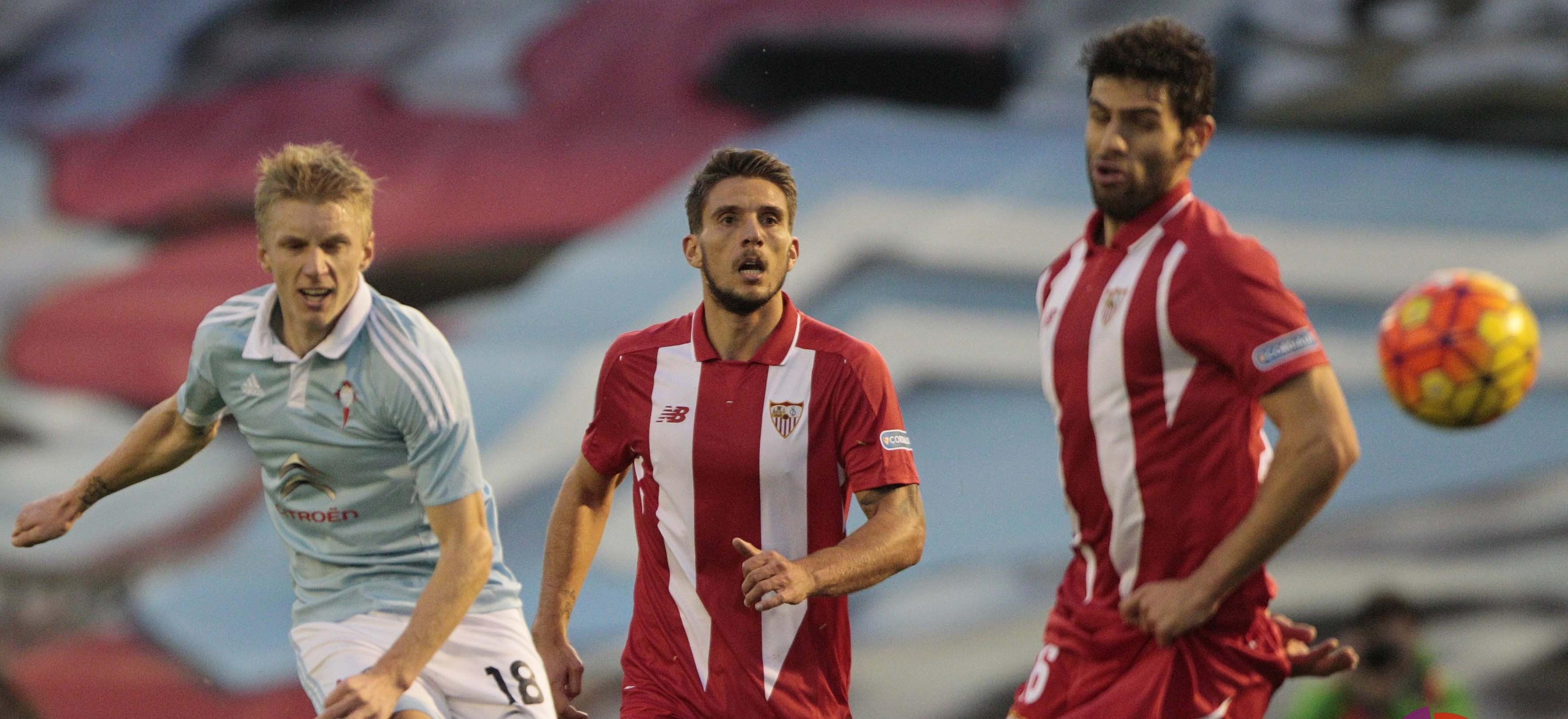 Carriço y Fazio en el Celta-Sevilla FC
