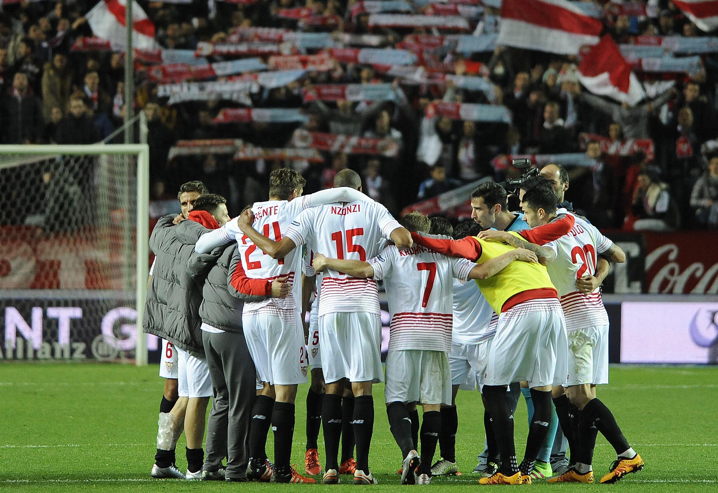 Piña en el Sevilla FC-Celta