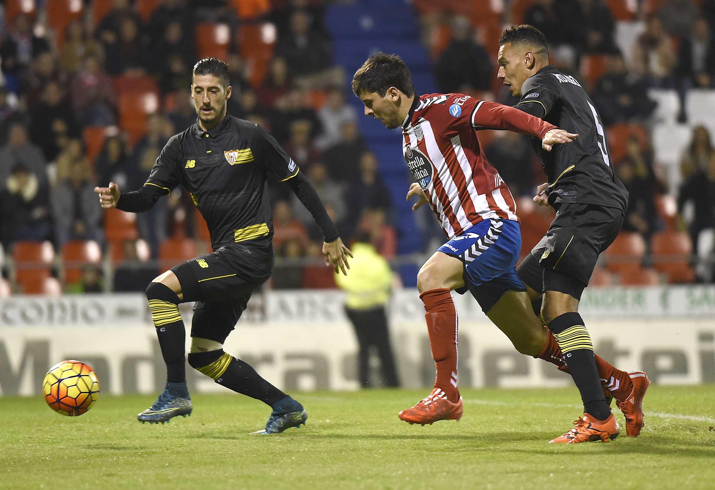 Escudero y Kolo en el Lugo-Sevilla FC