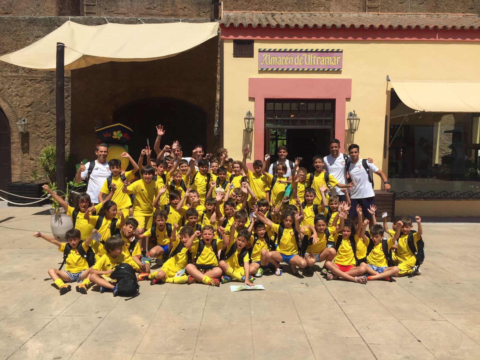 Los alumnos del campus de verano en Isla Mágica