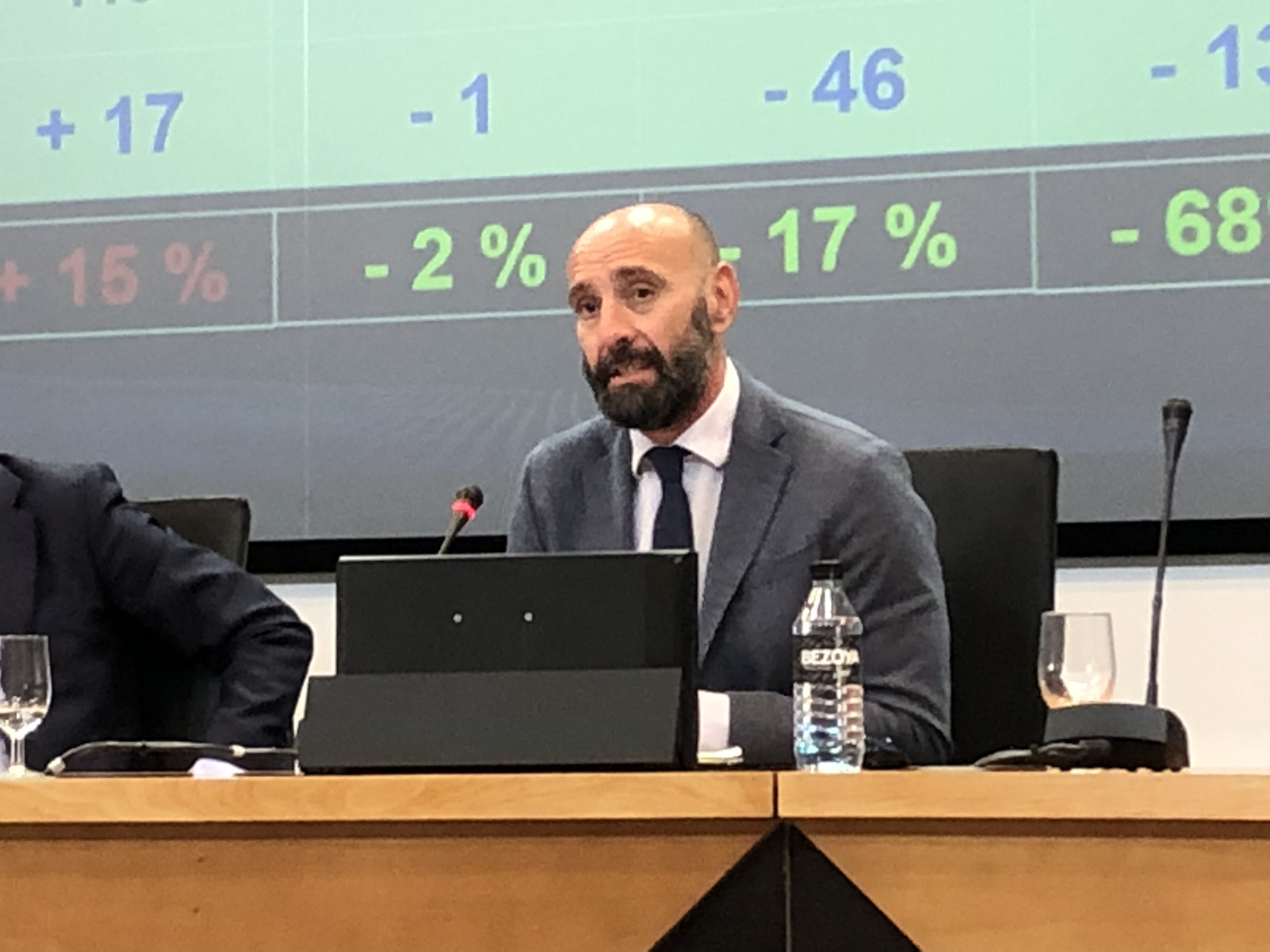 Monchi during his speech