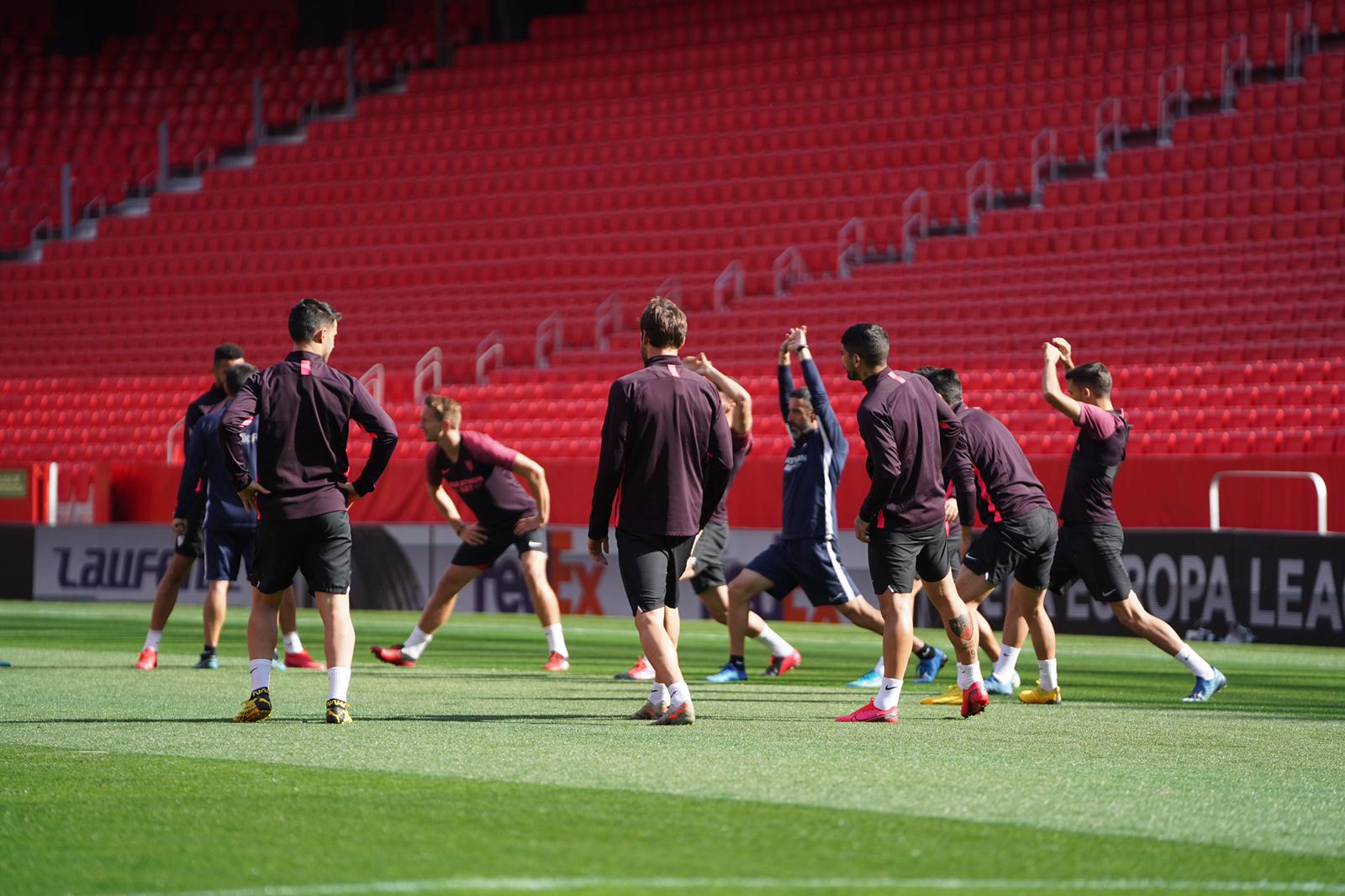 Sevilla FC training, Wednesday 11th March