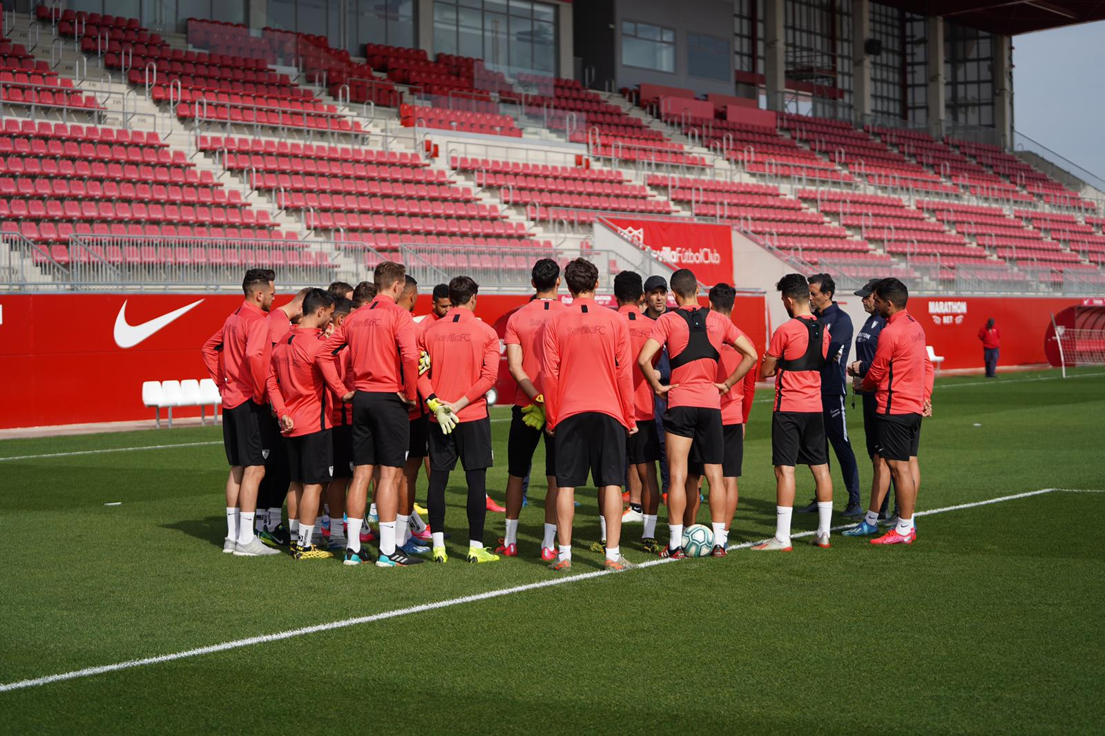 Sevilla FC training, Thursday 12th March
