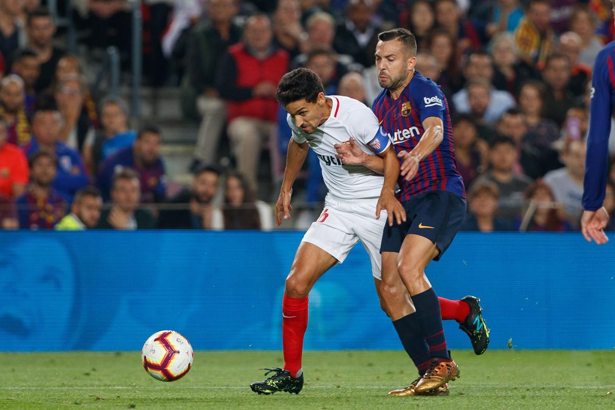 Navas del Sevilla FC ante el FC Barcelona