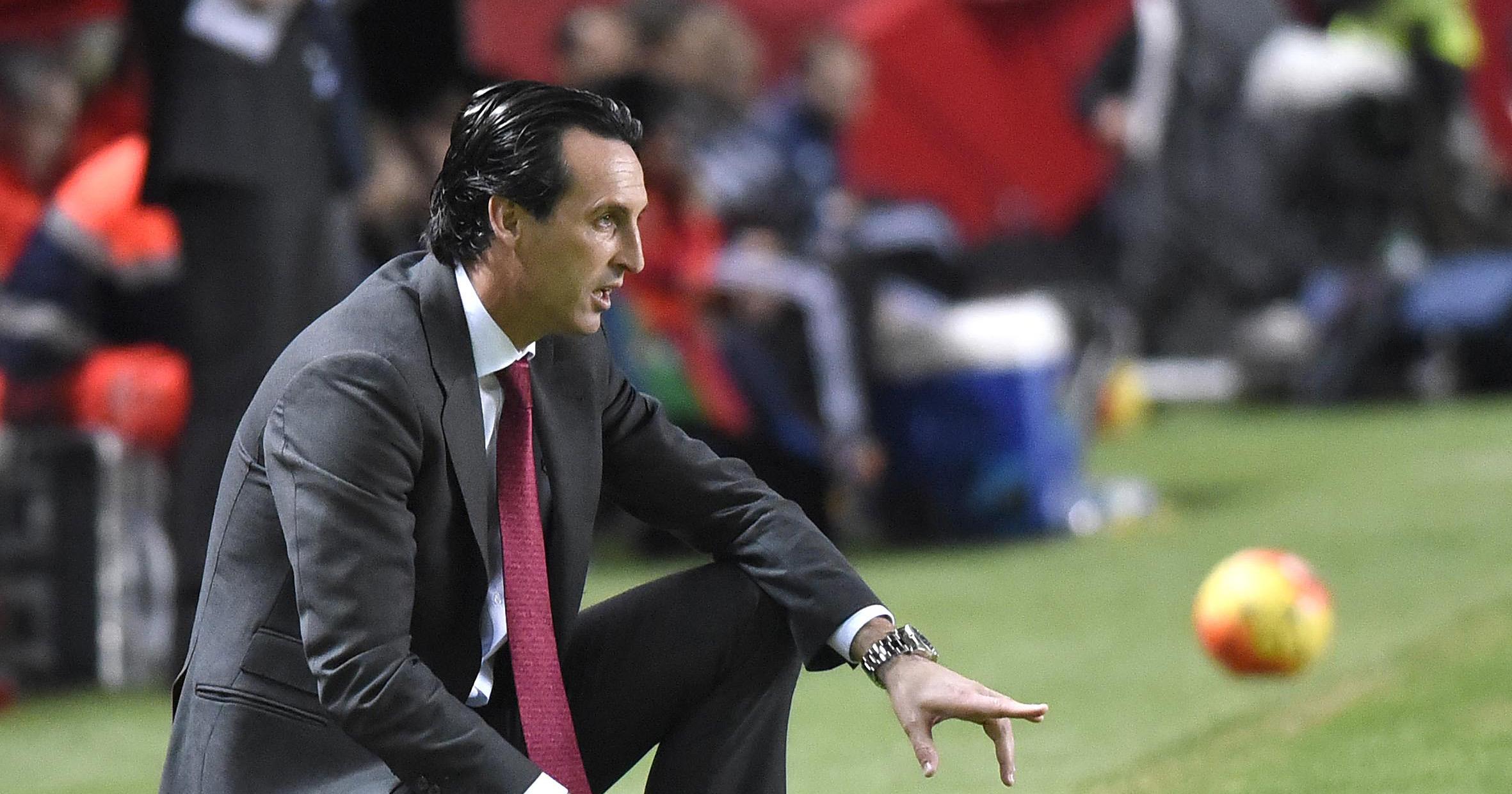Unai Emery en el Sevilla FC-Valencia CF