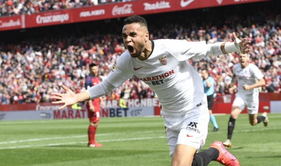 En-Nesyri celebrating his last gasp winner against CA Osasuna