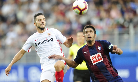 Sarabia of Sevilla FC against SD Eibar
