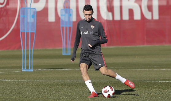 Munir trains with Sevilla FC