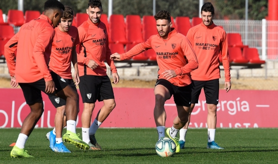 Sevilla FC training, Saturday 7th December