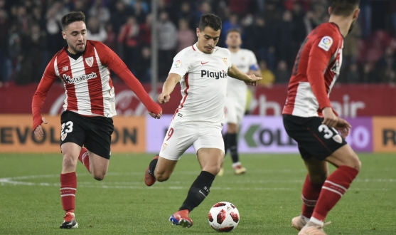 Ben Yedder ante el Athletic en Copa