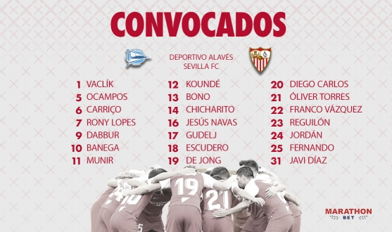 Squad for Alavés game