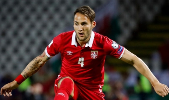 Gudelj in action for Serbia