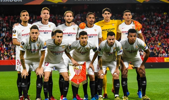 Sevilla FC's starting XI against CFR Cluj