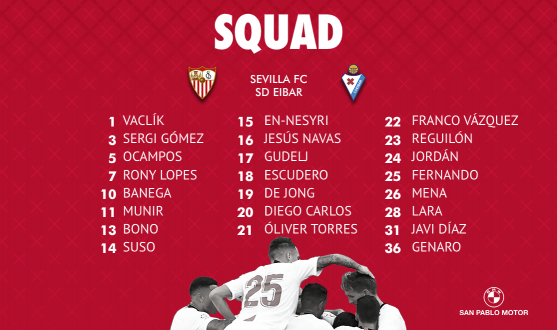 Squad vs SD Eibar
