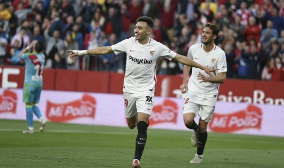 Munir scored two goals against Rayo Vallecano
