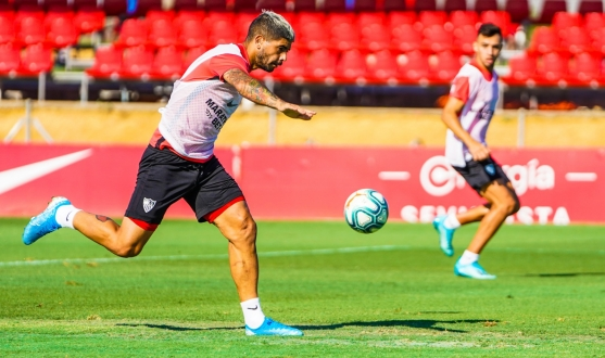 Sevilla FC training on Monday 12th August