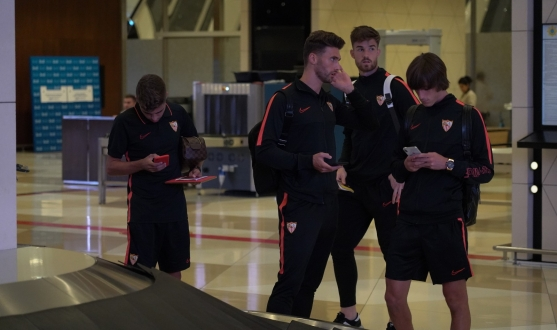 Sevilla arrive in Baku