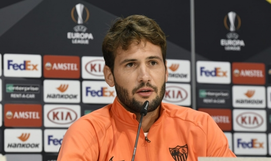 Franco Vázquez in the press conference