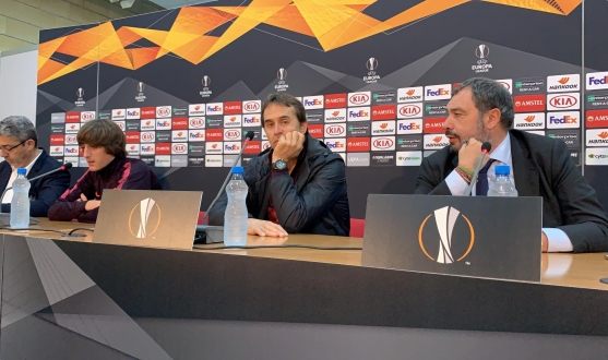 Bryan Gil and Julen Lopetegui's press conference in Cyprus