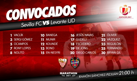 Squad vs Levante UD in the Copa del Rey