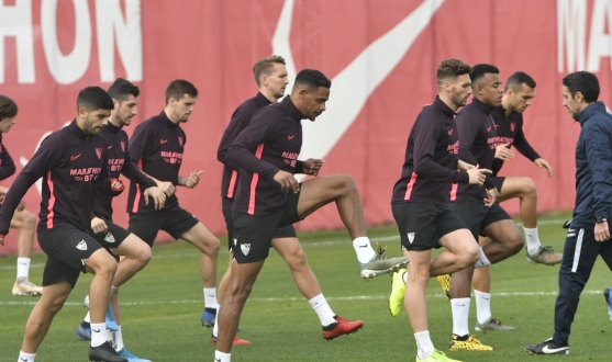 Sevilla FC training, Monday 27th January