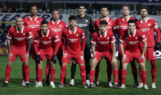 Sevilla FC's starting XI in Linares