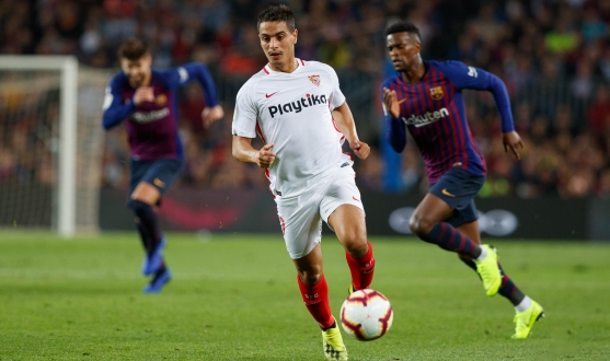 Ben Yedder of Sevilla FC against FC Barcelona