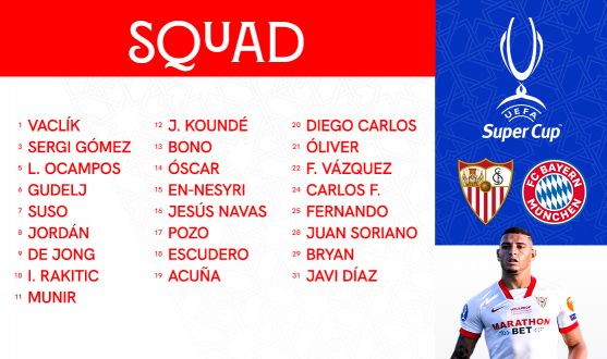 Squad for the UEFA Super Cup