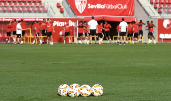Sevilla FC training at the Ciudad Deportiva