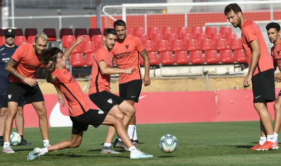 Sevilla FC training, 16th August