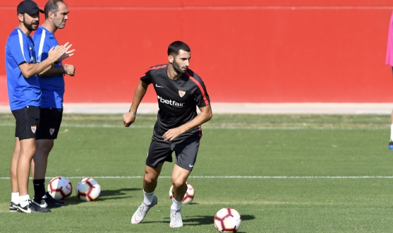 Sevilla in training