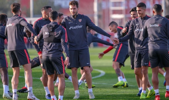 Sevilla FC at the training village