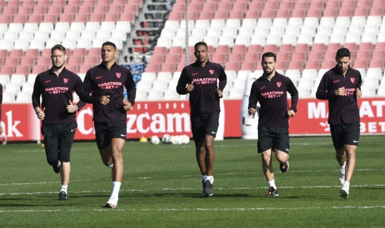 Sevilla FC training, Monday 17th February