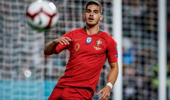 André Silva of Sevilla FC with Portugal