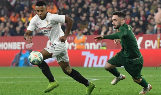 Kounde del Sevilla FC ante el Athletic Club