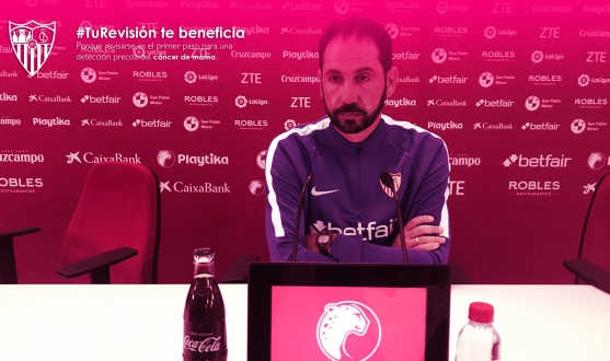 Pablo Machín, manager of Sevilla FC