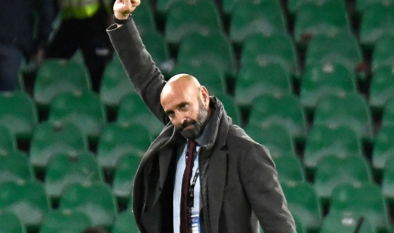 Monchi celebrating in the Benito Villamarín