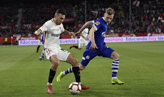 Roque Mesa opened the scoring against Schalke 04