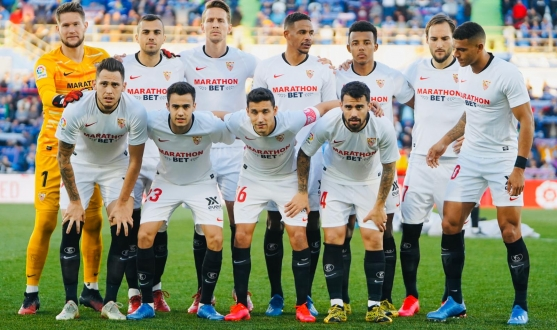 Sevilla FC's starting line-up against Getafe CF