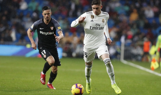 Sarabia of Sevilla FC against Real Madrid
