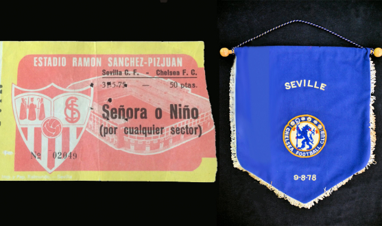 Souvenirs from Sevilla-Chelsea in 1975 and 1978