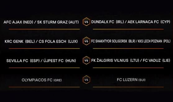 Q3 draw for the UEFA Europa League