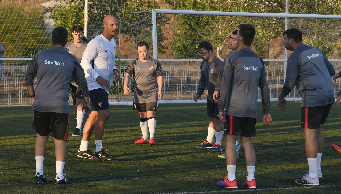Sevilla FC train for LaLiga Genuine