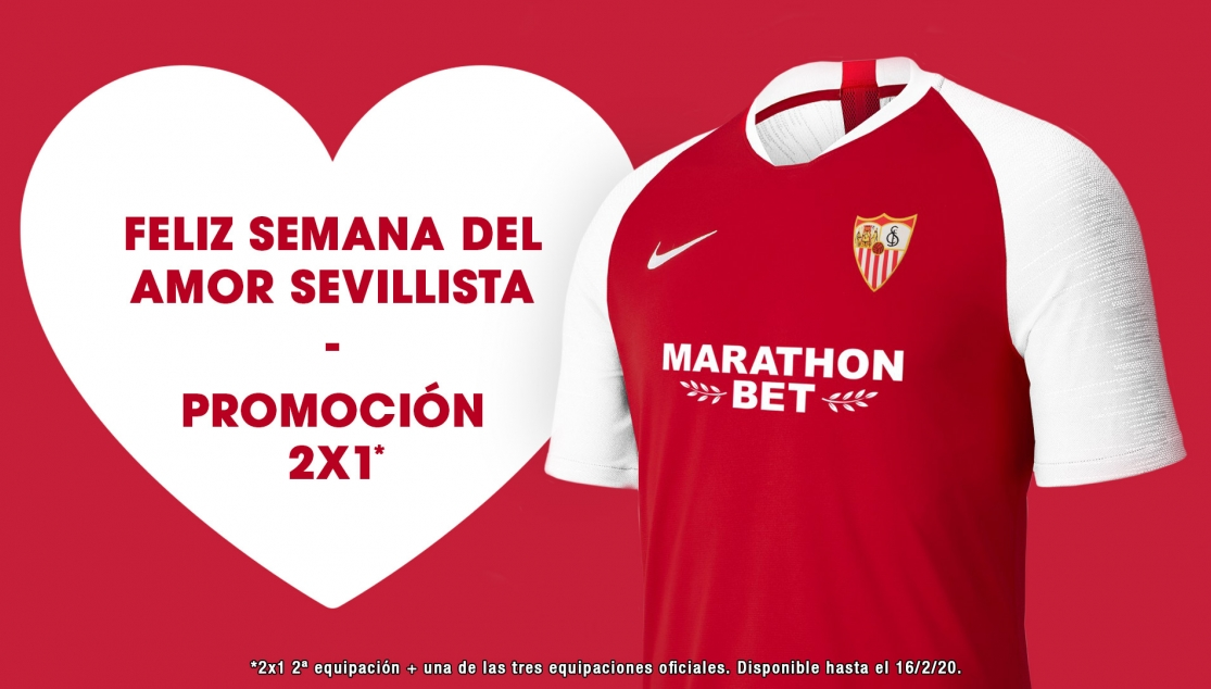 2 for 1 official shirts in the Sevilla Love Week