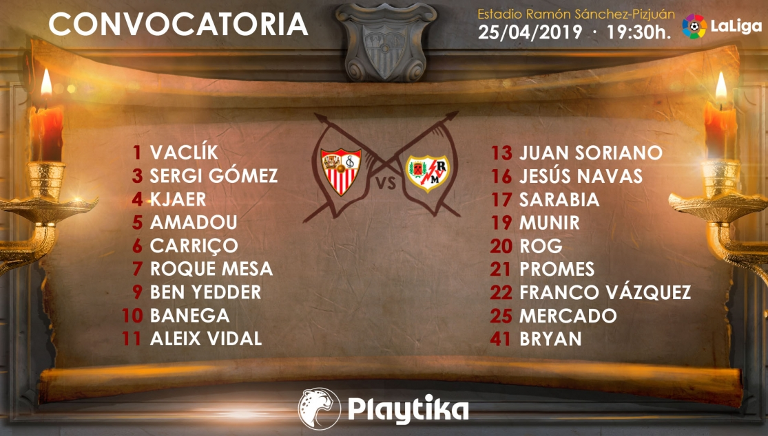 Convocatoria para el Rayo Vallecano