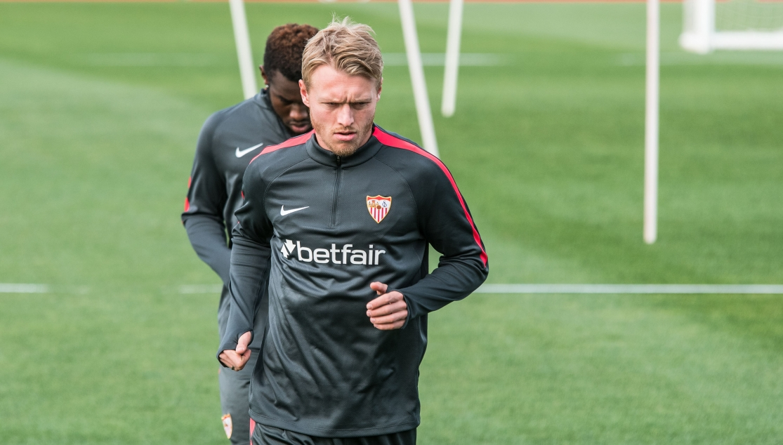 Kjaer returns to training
