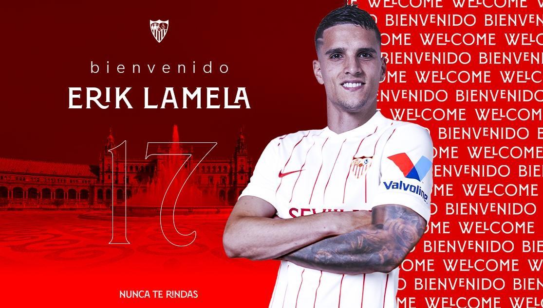 EL ATACANTE ARGENTINO ERIK LAMELA, NUEVO JUGADOR DEL SEVILLA FC