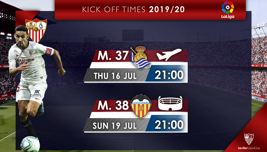 Kick off times, Matchdays 37 and 38