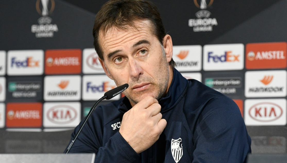 Julen Lopetegui during the press conference before CFR Cluj at home